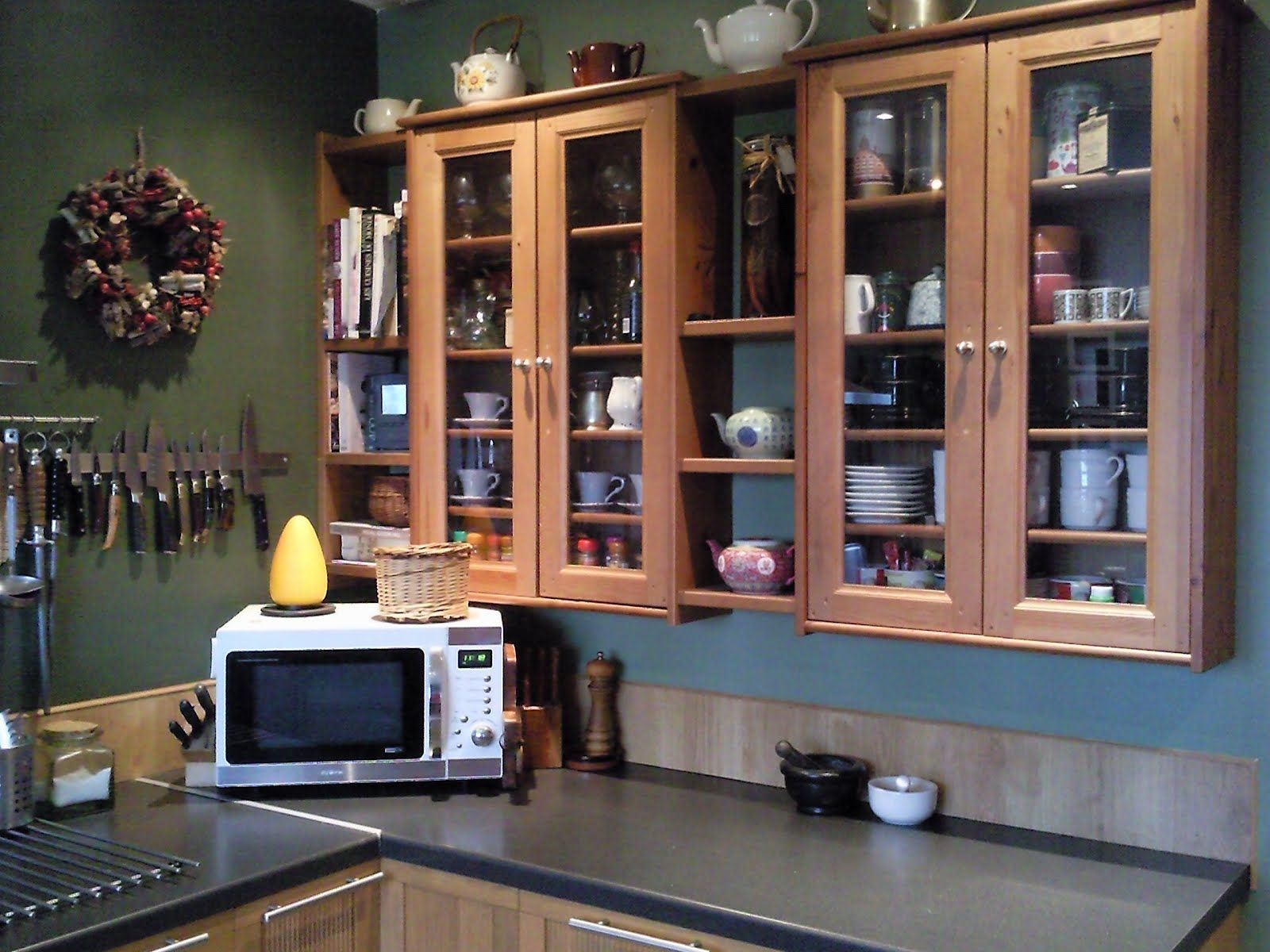 Leksvik Pine CD Cabinets and Ikea Pine Shelves = Kitchen Cabinets ...