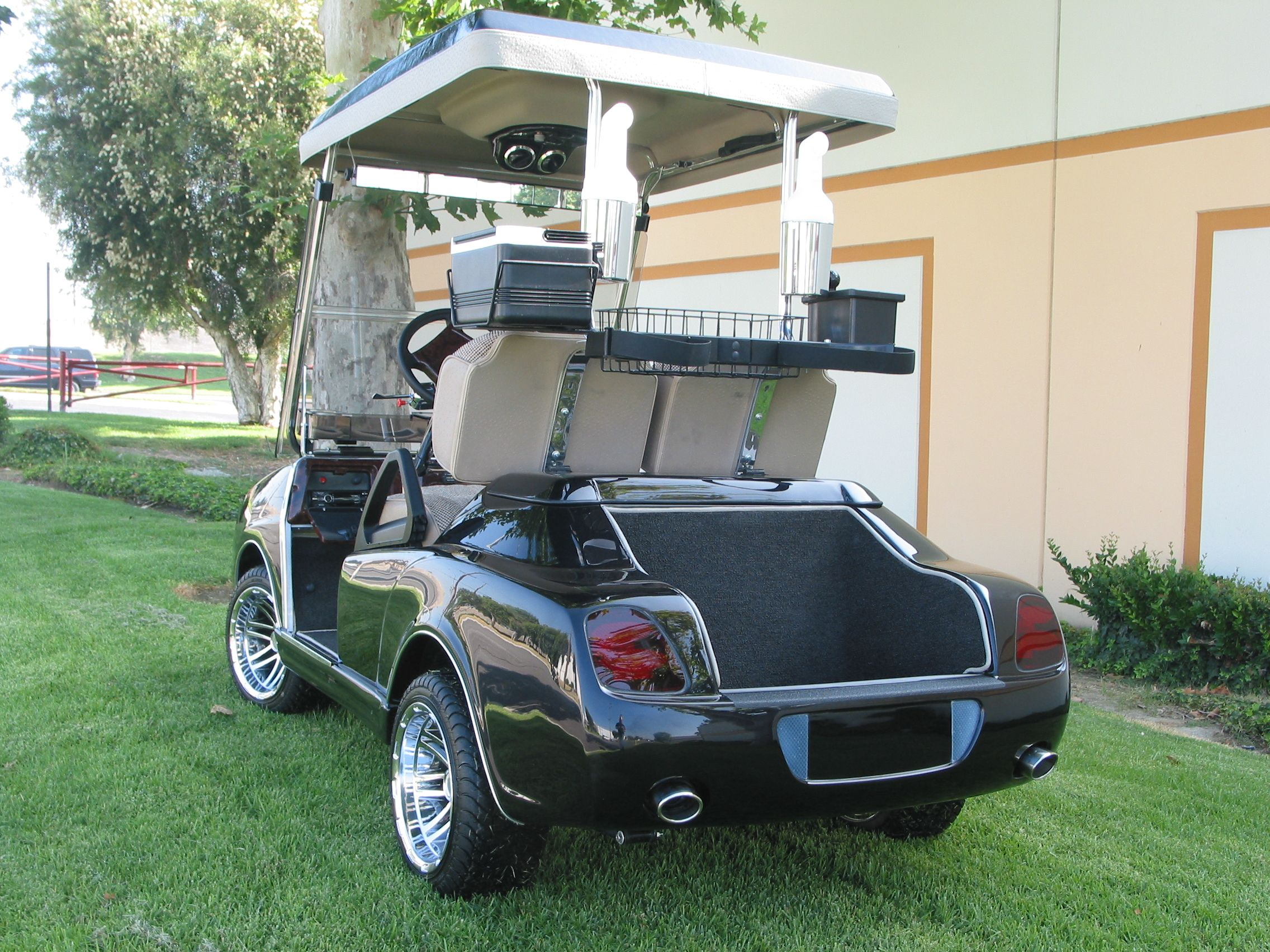 bentley front body kit with a bentley rear on a club car ds golf car
