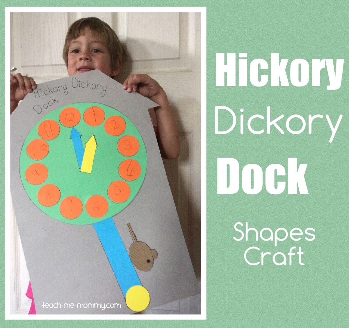Hickory Dickory Dock Shapes Craft