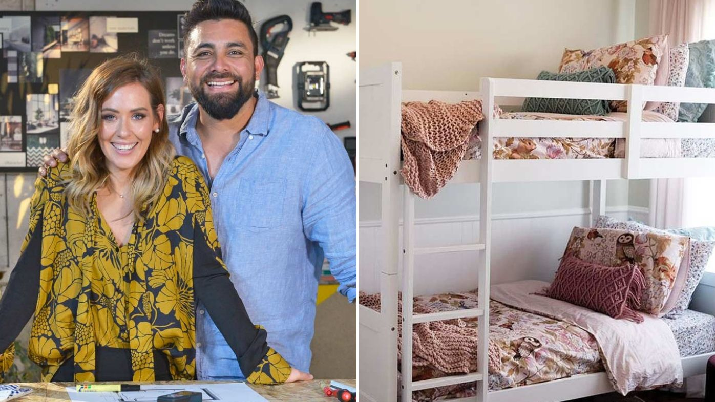 Watch The Block S Ronnie And Georgia Flip A Kid S Room In 24 Hours With A Tiny Budget Georgia Whimsical Bedding Vintage Dressers