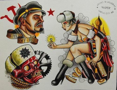 Communist Tattoo Designs