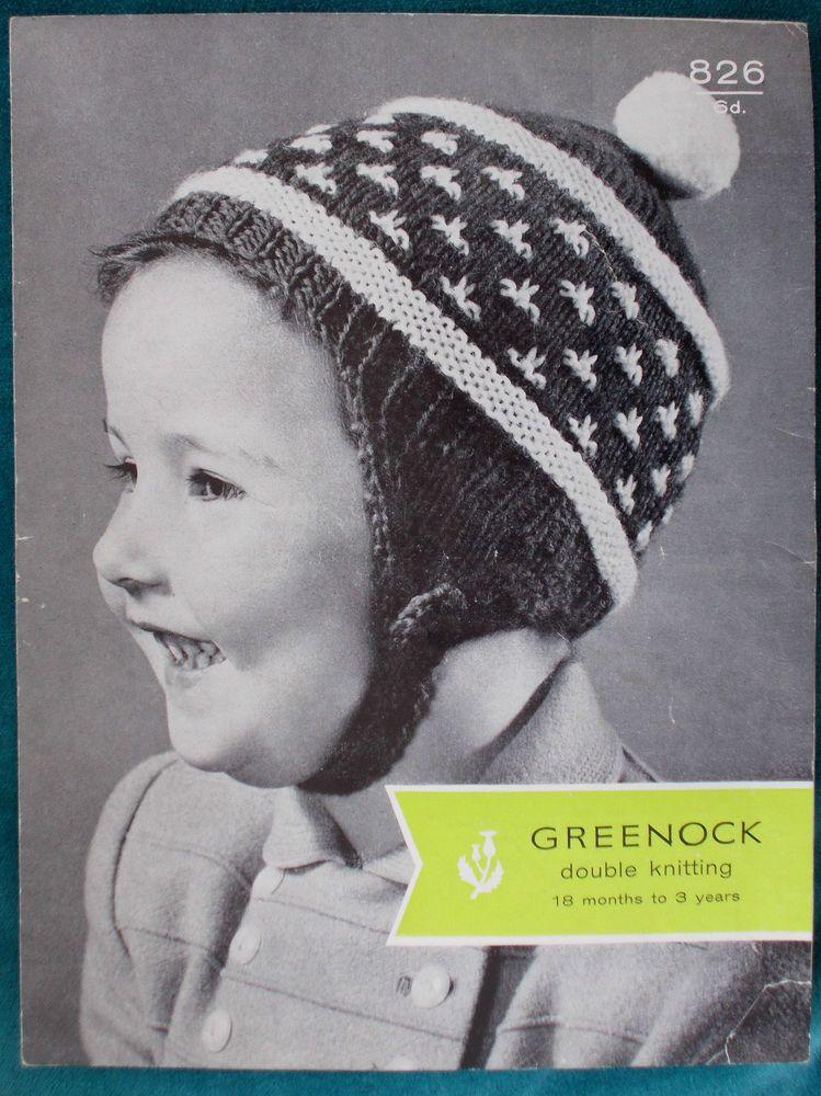 Adorable Vintage 1960s Hat Balaclava Child & Baby Original DK ...