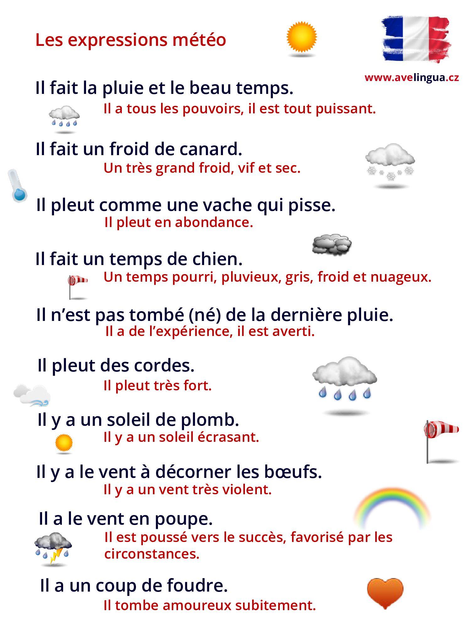 être Né De La Dernière Pluie : être, dernière, pluie, Expressions, Météo, Apprendre, Français,, L'anglais,, Comptines, Paroles
