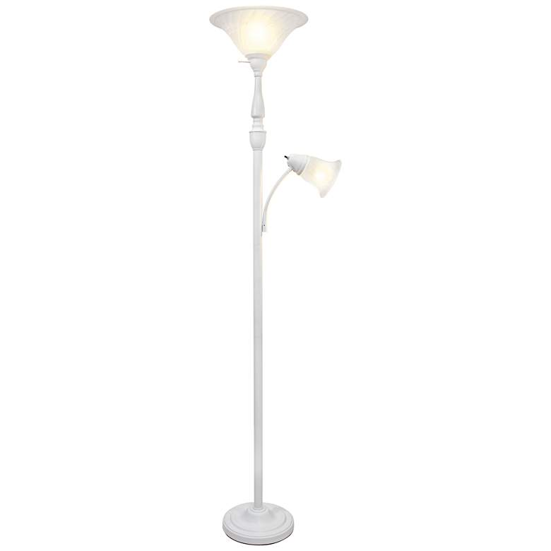 Elegant Designs Mother Daughter White 2 Light Floor Lamp 61g60 Lamps Plus In 2020 Floor Lamp Styles Floor Lights Floor Lamp