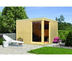 Karibu Abri De Jardin Cube Coin Bois 10 24 M Epaisseur Paroi 28 Mm Abri De Jardin Amenagement Jardin Pergola