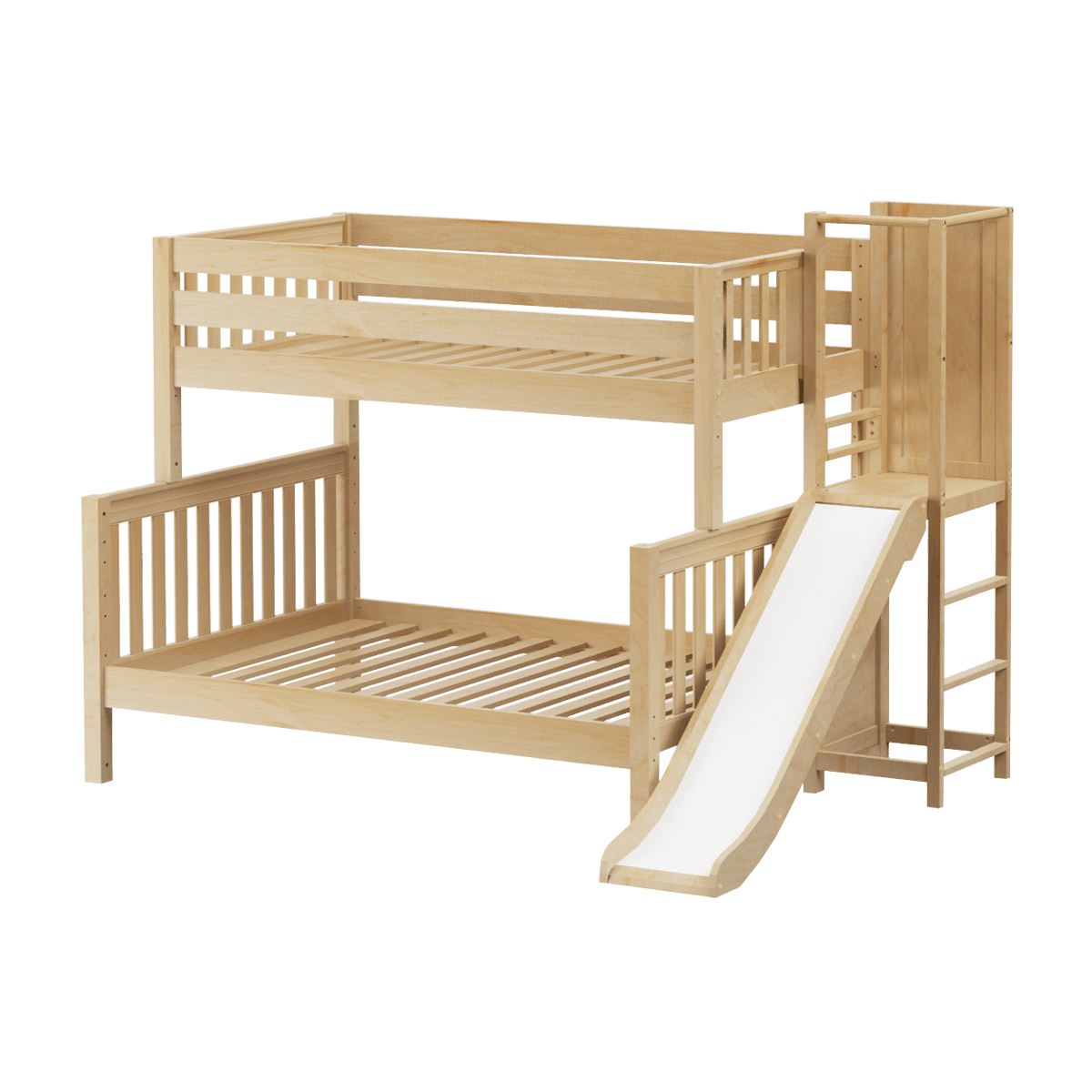 Single Over Double Bunk Bed With Slide Modular Collection Bed With Slide Bunk Bed With Slide Full Bunk Beds Single over double bunk bed