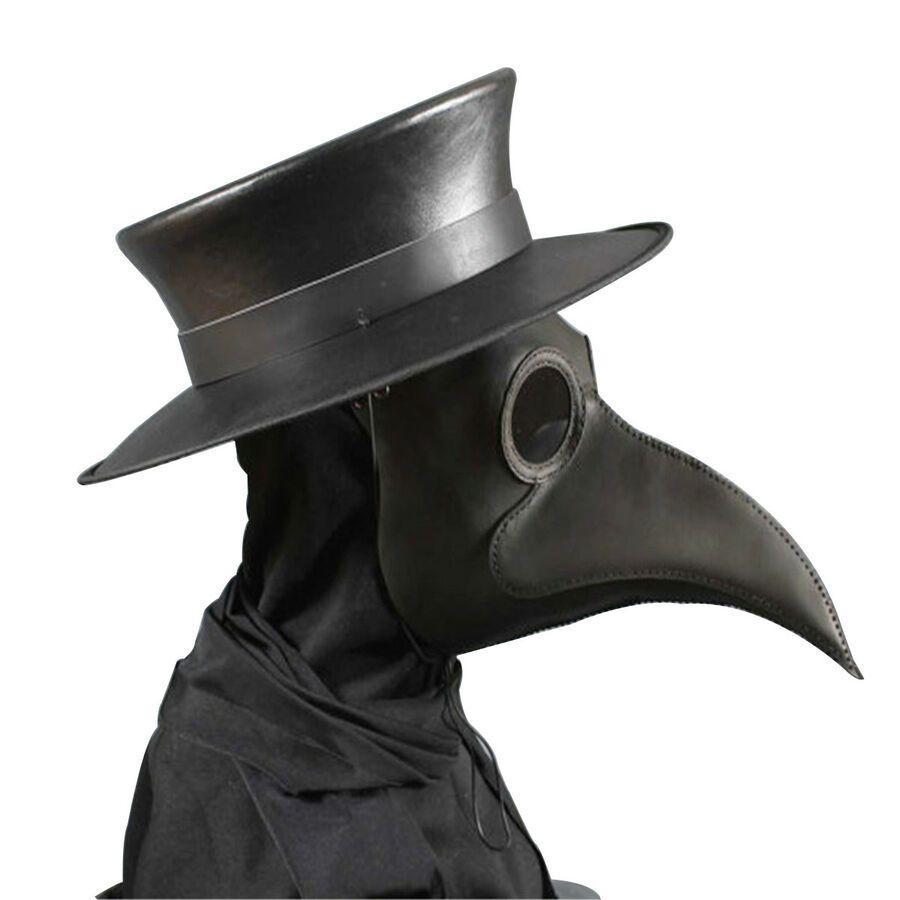 Doctor Plague Halloween Black Horrible Black Death Bird Nose Mask