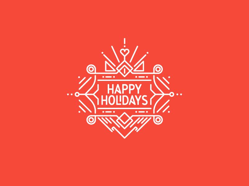 Happy Holidays Holiday Logo Holiday Illustrations Cool Typography
