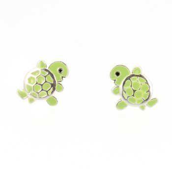 Claires Girls Enamel Turtle Stud Earrings