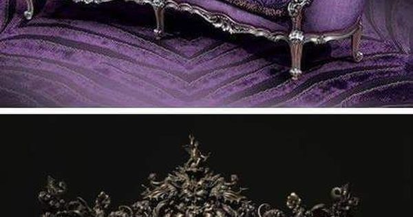 Liked on Pinterest: Dark Victorian Purple and Red Sofas                                                                                                                                                                                 More