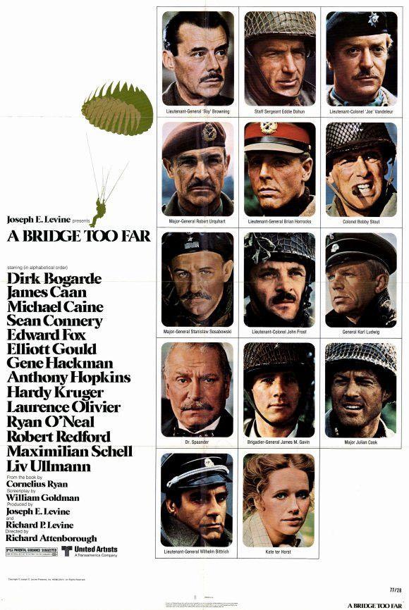 A Bridge Too Far 11x17 Movie Poster 1977 Movie Posters Sean Connery Robert Redford