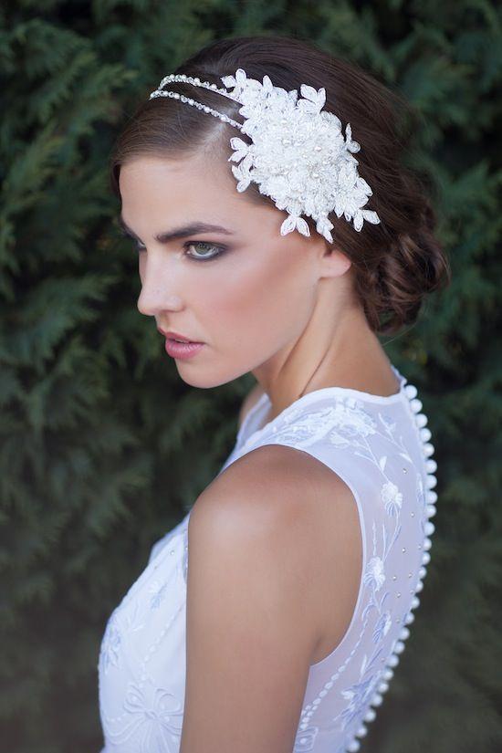 ABIGAIL Beaded Double Headband By Tania Maras Bridal