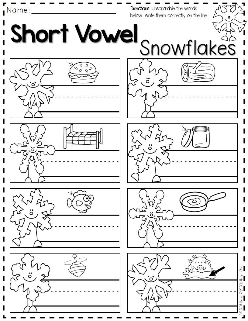 Freebie Reading Writing And Math Printables For Winter Perfect