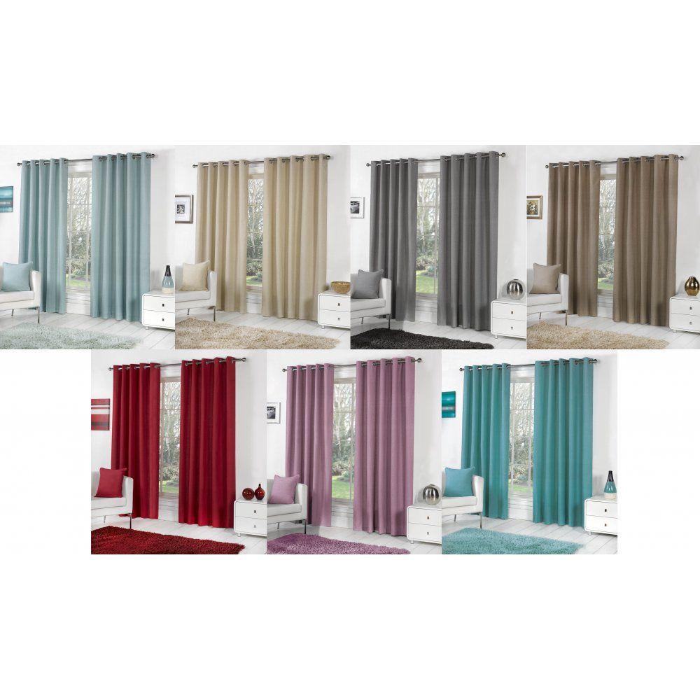 Sorbonne 100 Cotton Ring Top Curtains 7 Colours