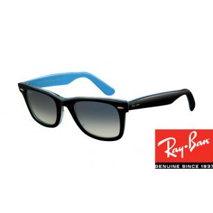 effba57324 Fake Ray-Bans RB2140 Original Wayfarer Top Black-Blue Frame http