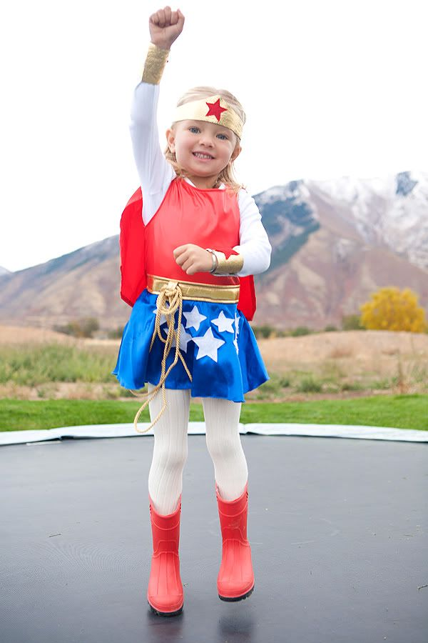 Wonder Woman kids costume. Macy would be all over this.