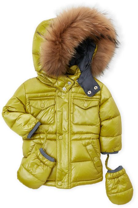 76a6779f6541 ADD Infant Boys) Real Fur Trim Hooded Down Coat