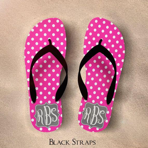 2a43828928ddc Monogram Flip Flops