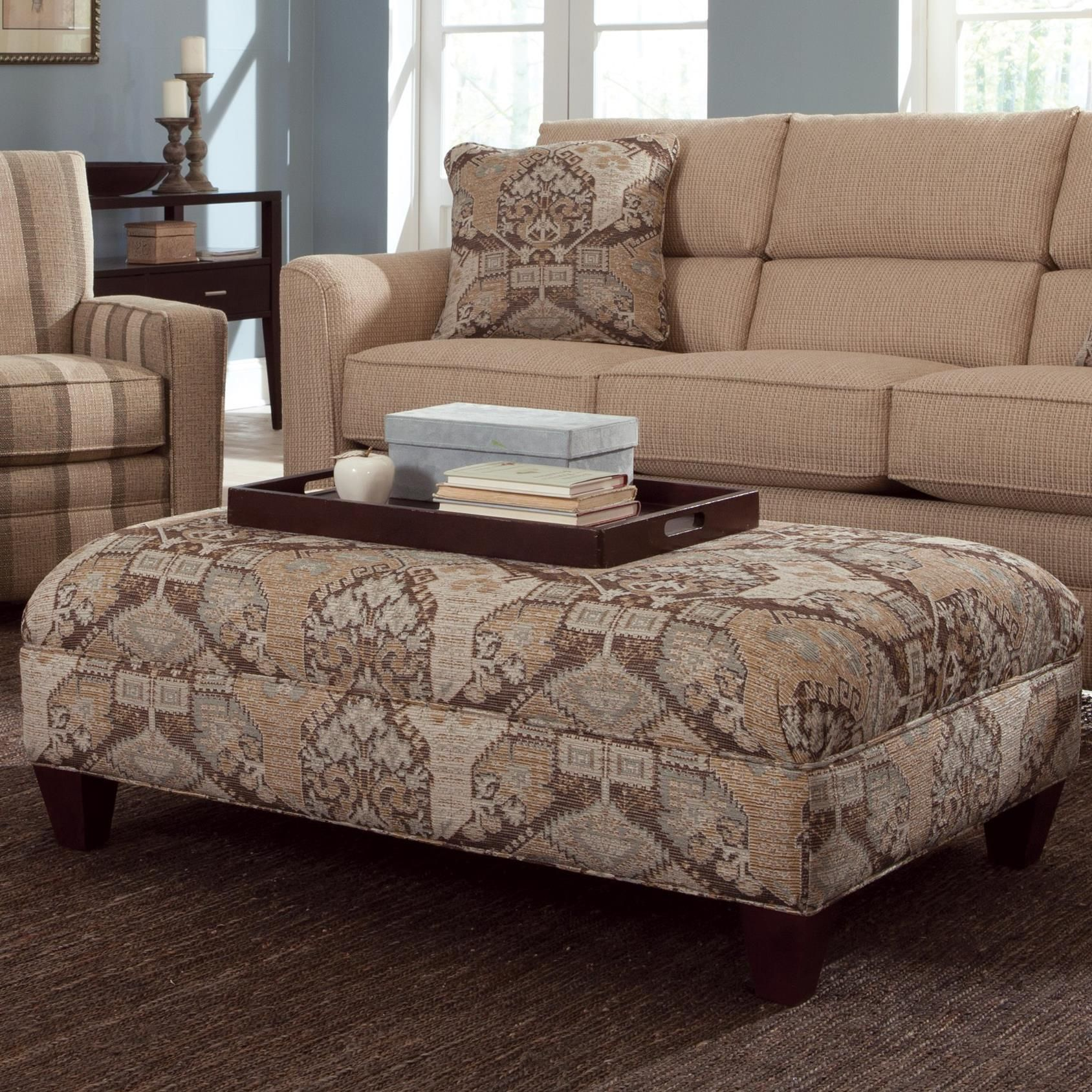 Astonishing Accent Ottomans Large Rectangular Cocktail Ottoman By Ncnpc Chair Design For Home Ncnpcorg