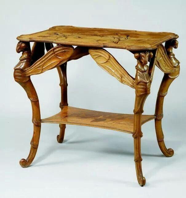 Art nouveau table gueridon by emile galle meubles for Art nouveau decoration ameublement