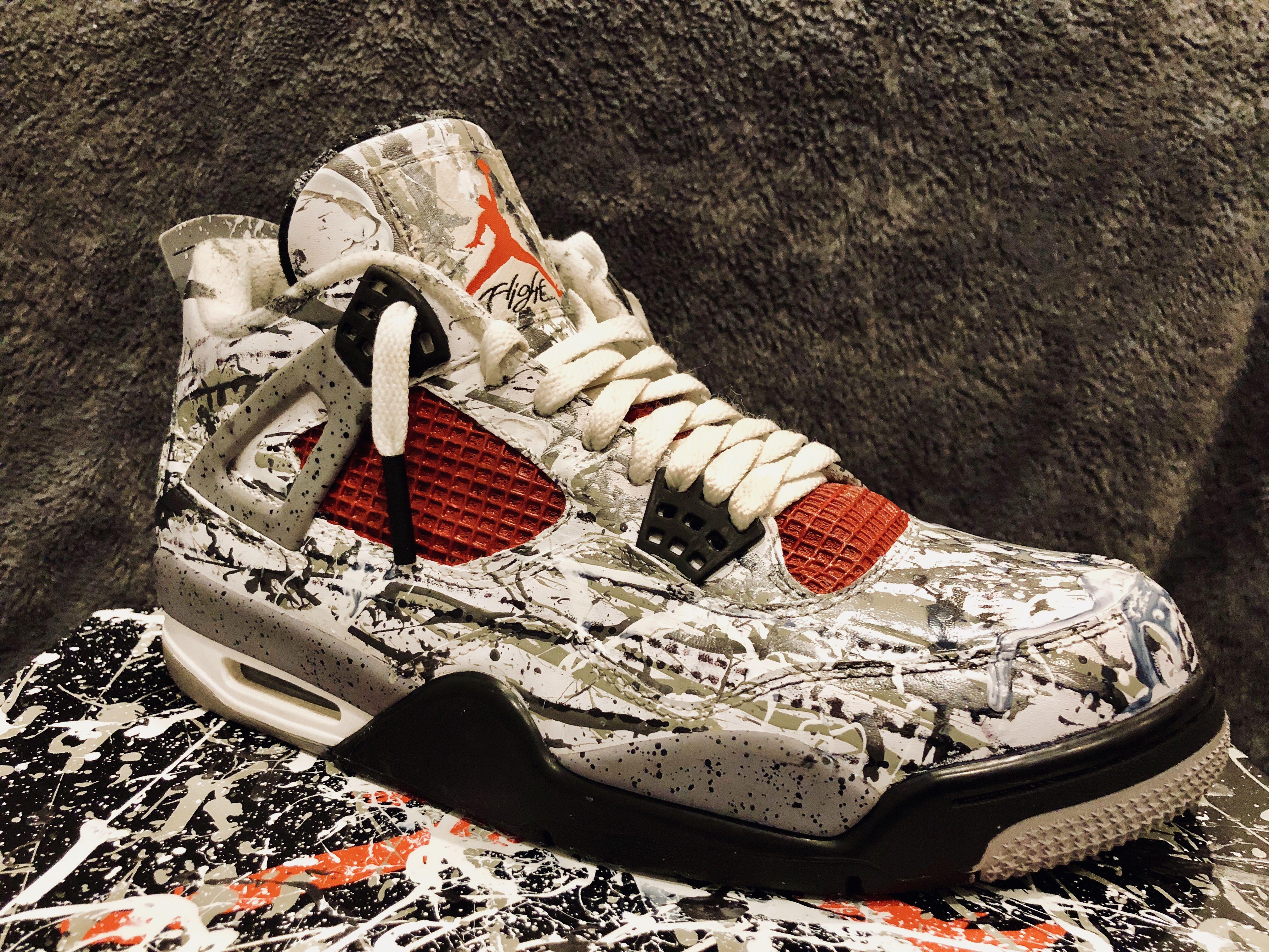 de Blij - Custom painted kicks - Air Jordan 4s