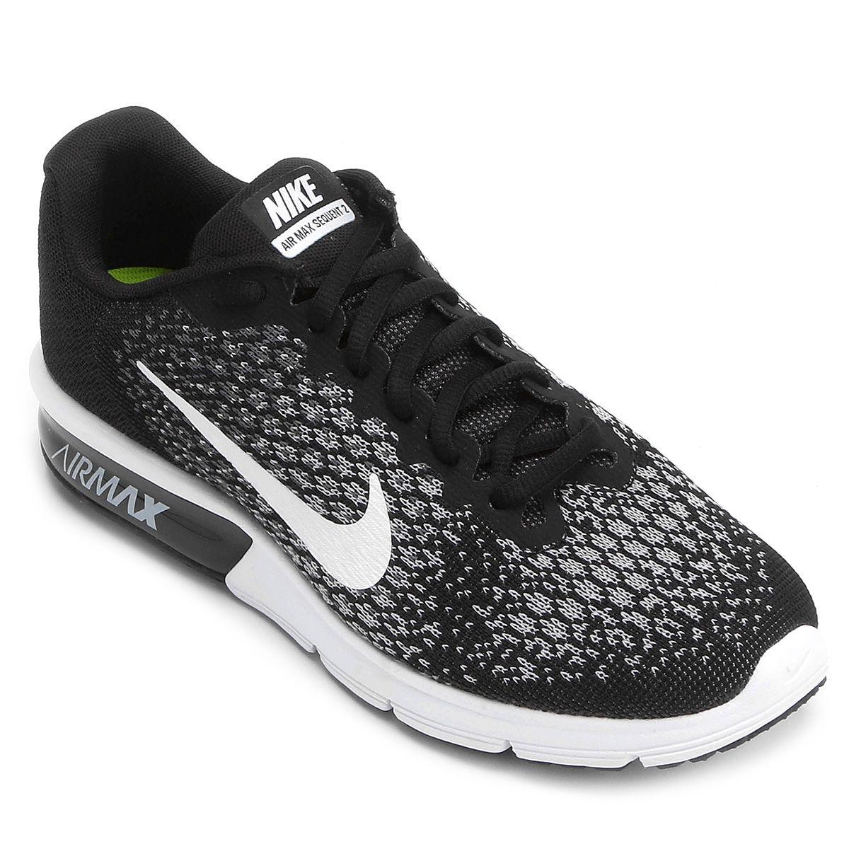 3f94d00c15 Tênis Nike Air Max Sequent 2 Feminino - Preto e Branco