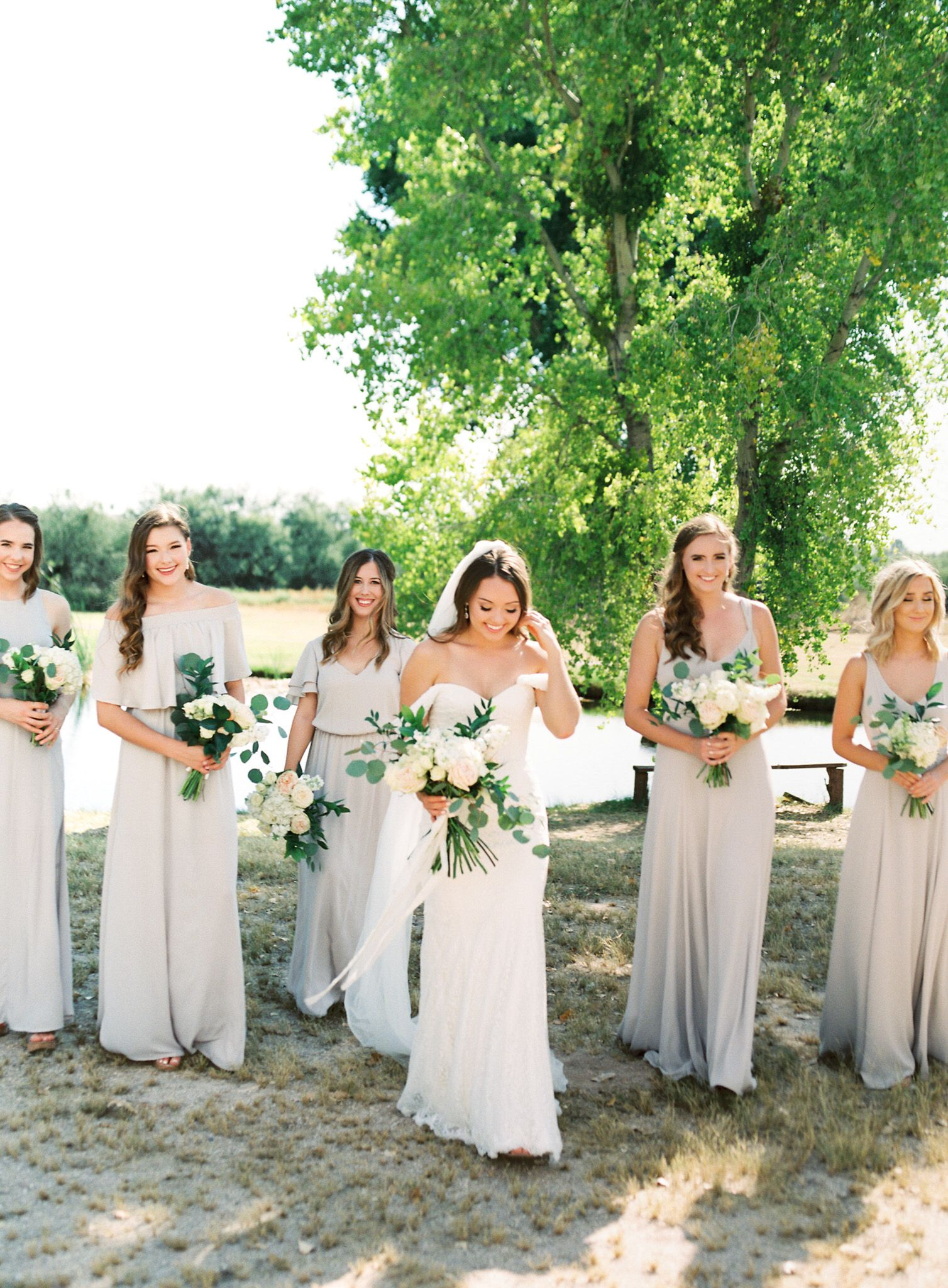 Beige Bridesmaid Dresses White And Green Wedding Off The Shoulder Lace Weddingdress Beige Wedding White Bridesmaid Dresses Beige Bridesmaid Dress [ 2048 x 1508 Pixel ]