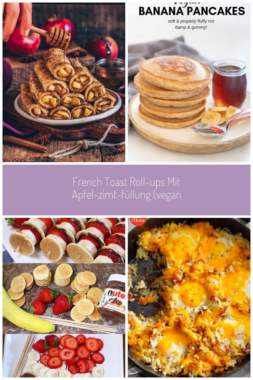 French Toast RollUps mit ApfelZimtFüllung Apfelkuchen Rollen id
