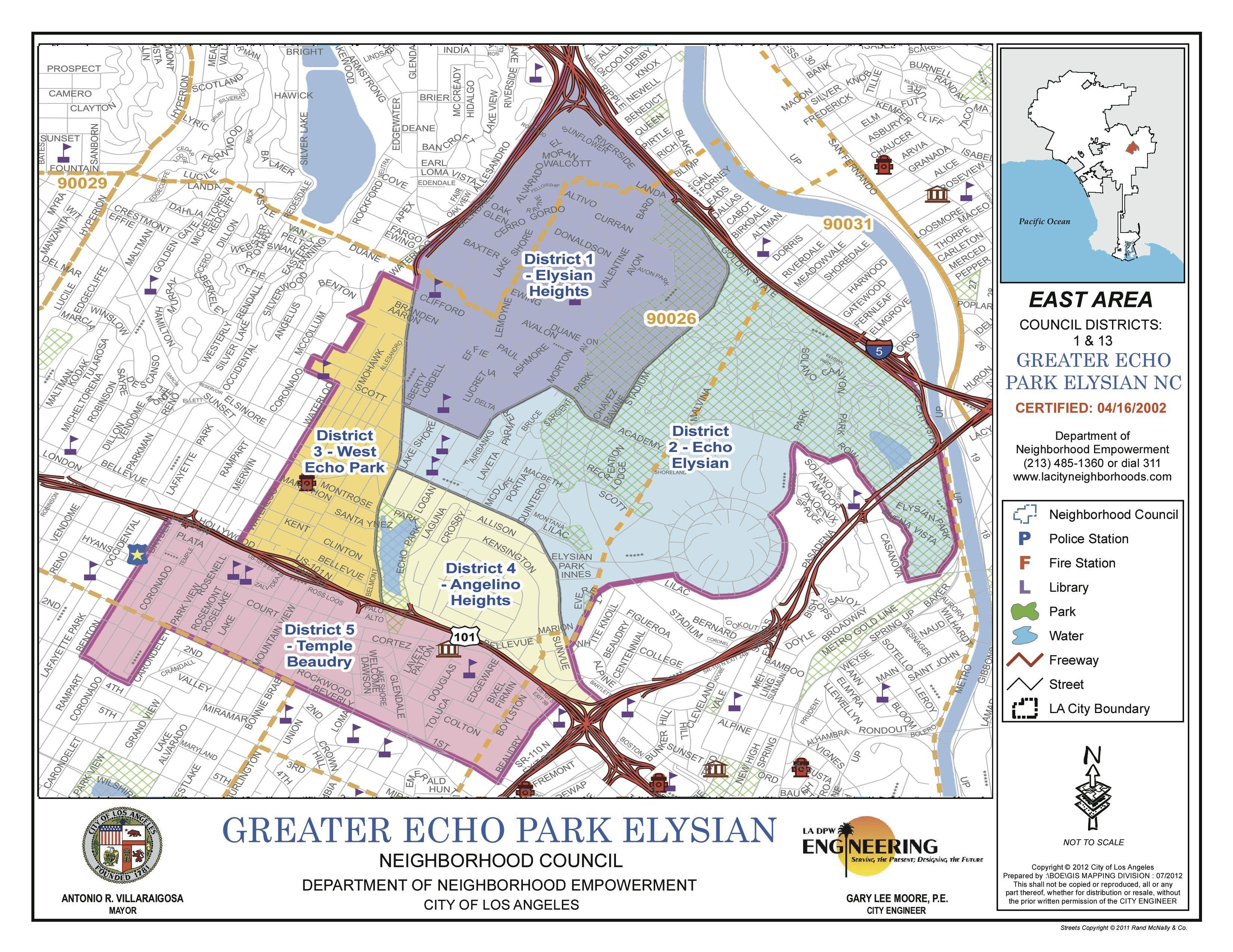 Elysian Park Map GREATER ECHO PARK ELYSIAN NEIGHBORHOOD COUNCIL