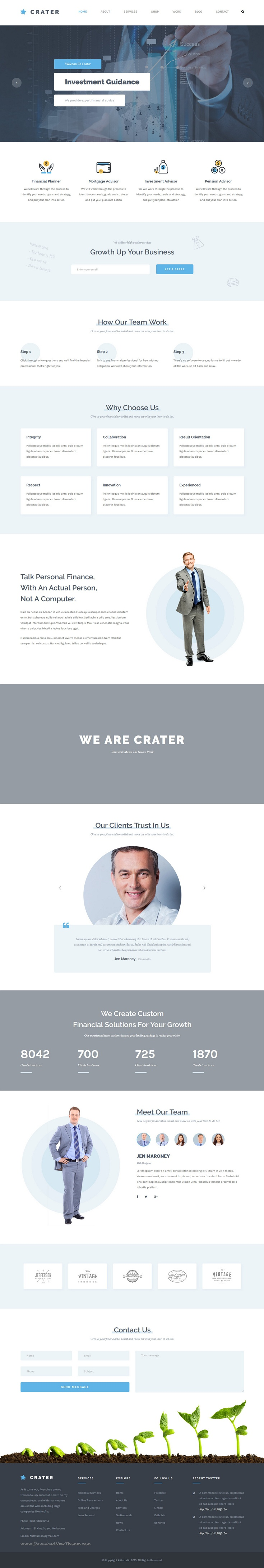 Crater - Professional HTML5 Business Template