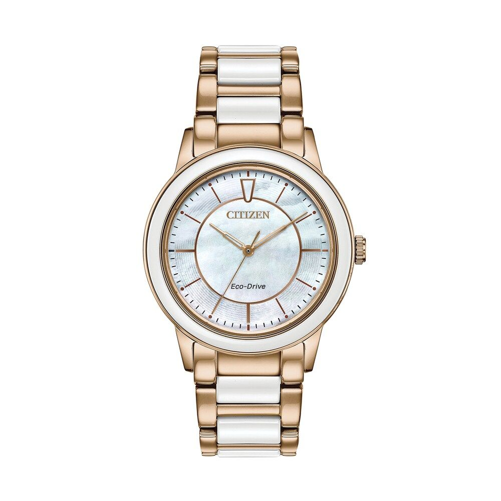 c195ad0e002bc2 Citizen Eco-Drive Women's Chandler Ceramic Link Watch - EM0743-55D, Size: