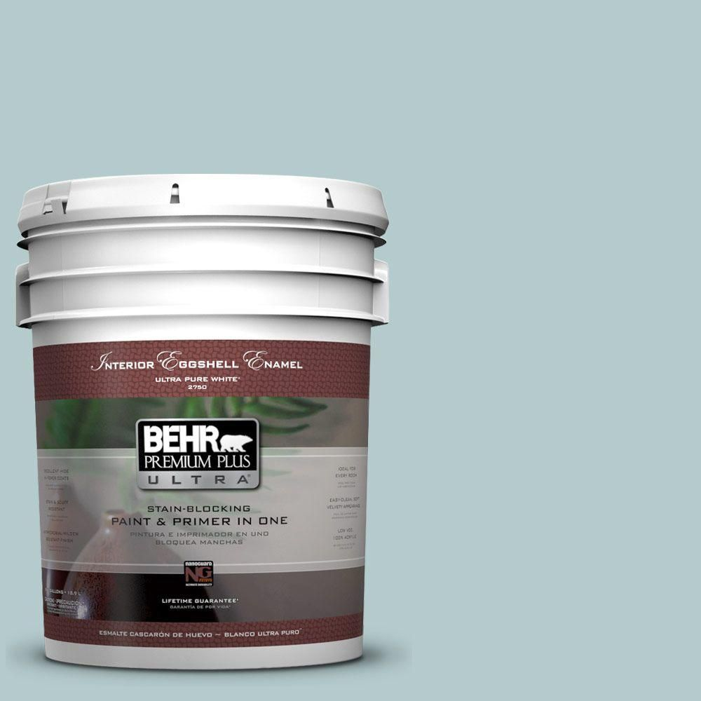 BEHR Premium Plus Ultra 5 gal  #PPU13-15 Clear Pond Eggshell