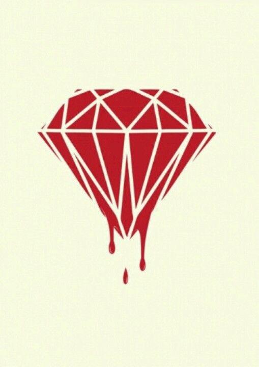 Diamante De Sangre Diamond Drawing Drawings Art