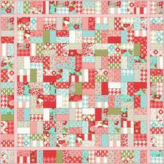 This sugary sweet Jolly Jelly Roll Quilt was my very first quilt ... : easy first quilt - Adamdwight.com