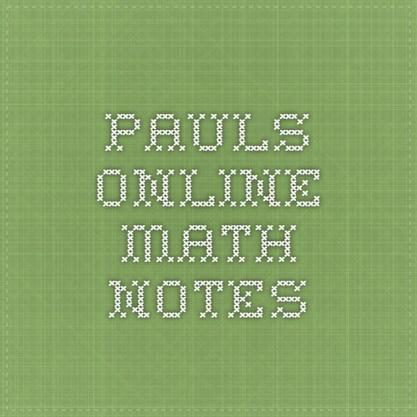 Pauls Online Math Notes Math Notes Online Math Math Notebooks Using integration to calculate work. pinterest