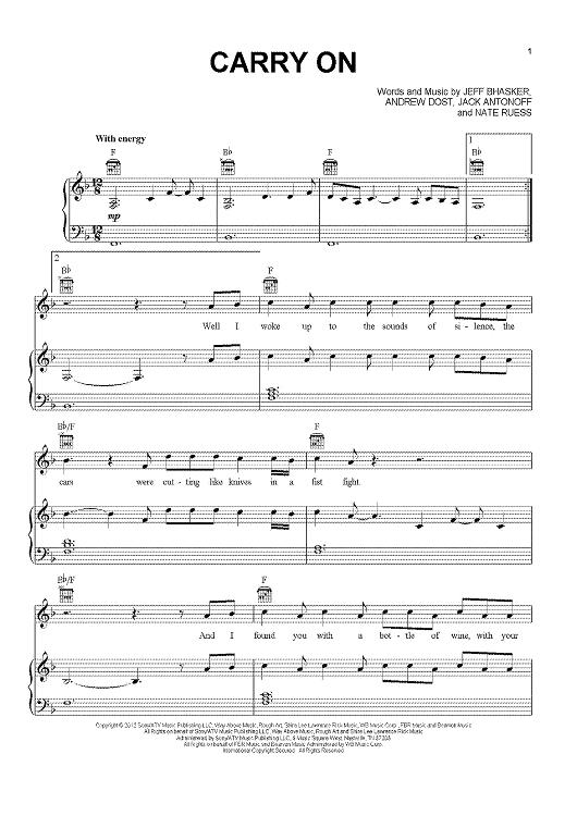 Carry On Sheet Music By Fun Sheet Music Pianos And Piano Sheet Music