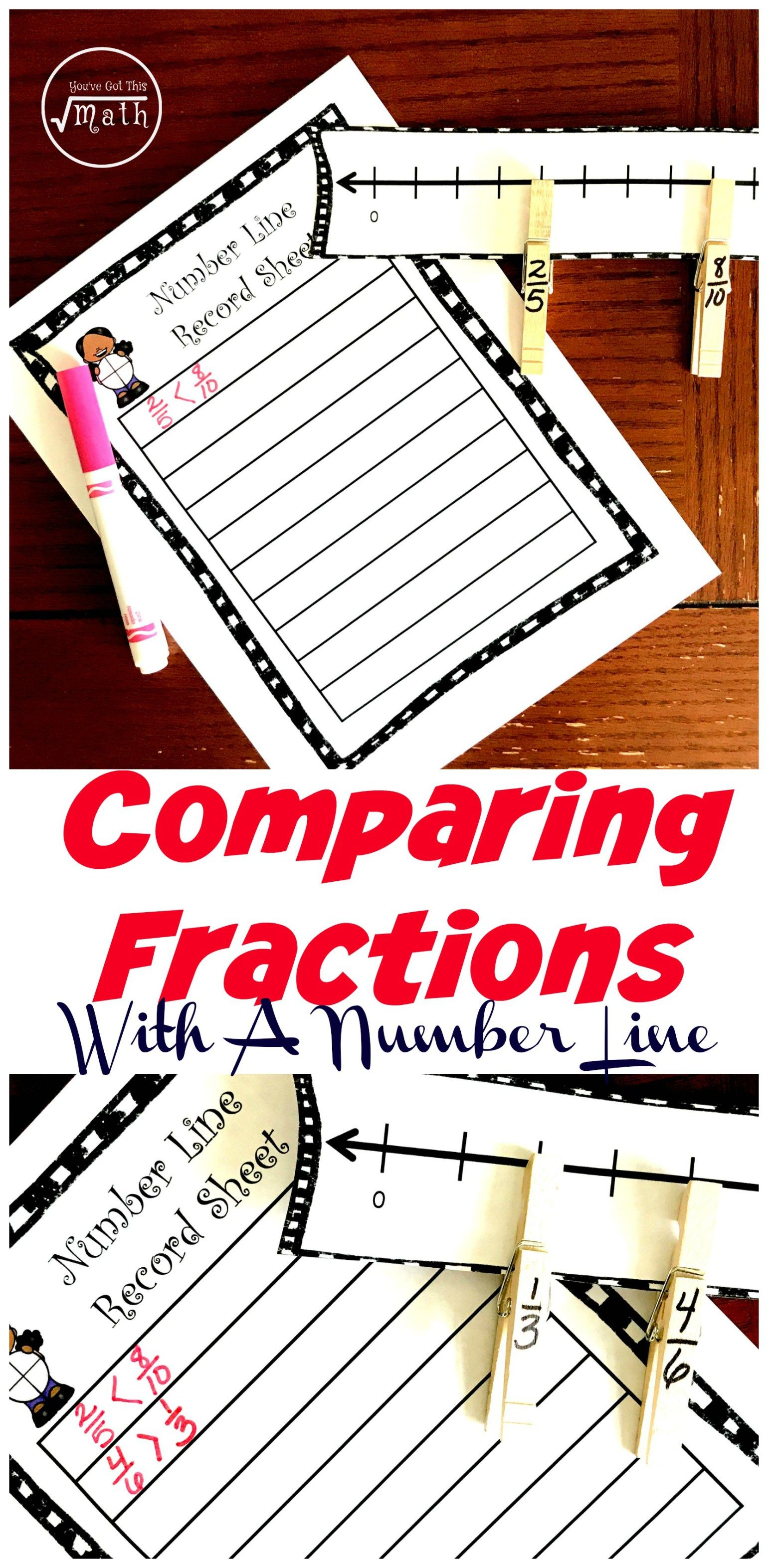 Free Hands On Comparing Fractions Activity Using A Number