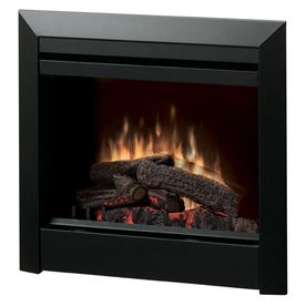 Dimplex 30 In W Black Metal Electric Fireplace With Thermostat And