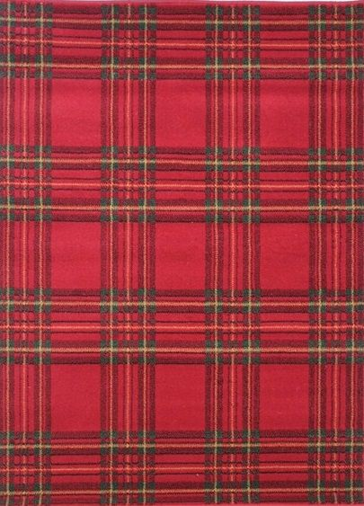 The Element Check Rug In Red Features A