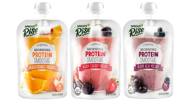 Sprout Foods Introduces Rise Organic Breakfast Smoothies