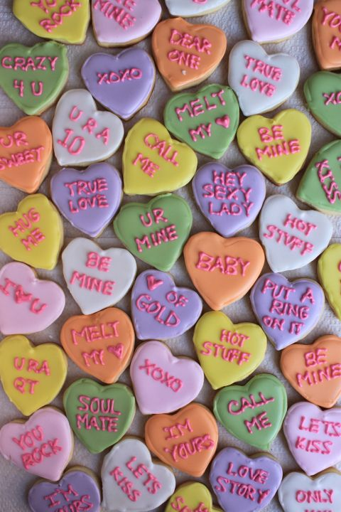 Sweetheart Conversation Cookies for Valentine's Day - such a cute idea!