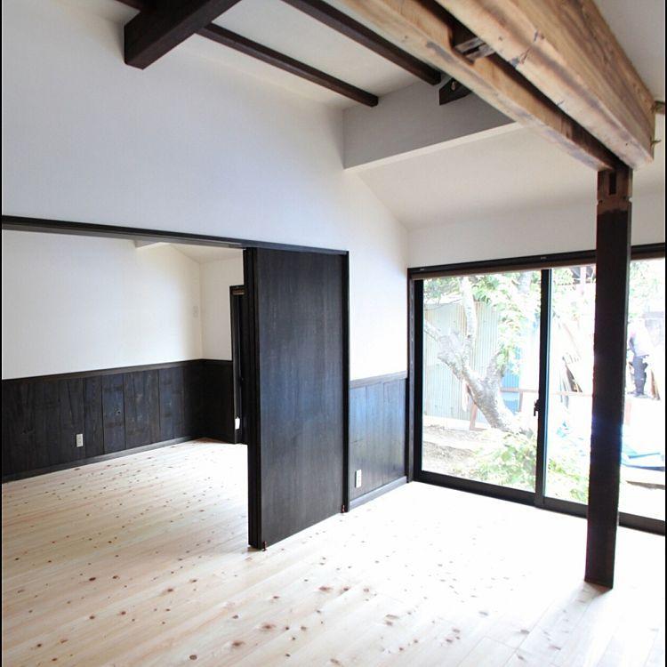 ベッド周り ヒノキ 無垢材 珪藻土 子ども部屋 などのインテリア実例