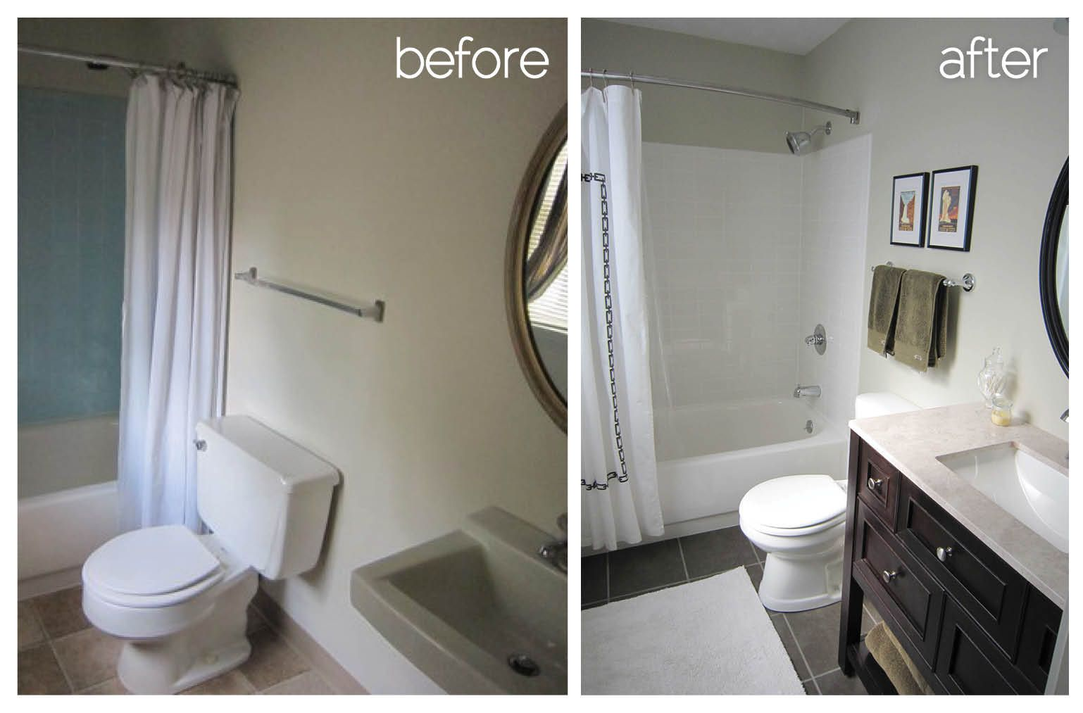 Before And After Bathroom Downstairs2 With Images Cheap