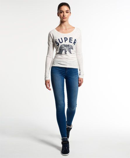 Superdry Blue Alexia Jeggings