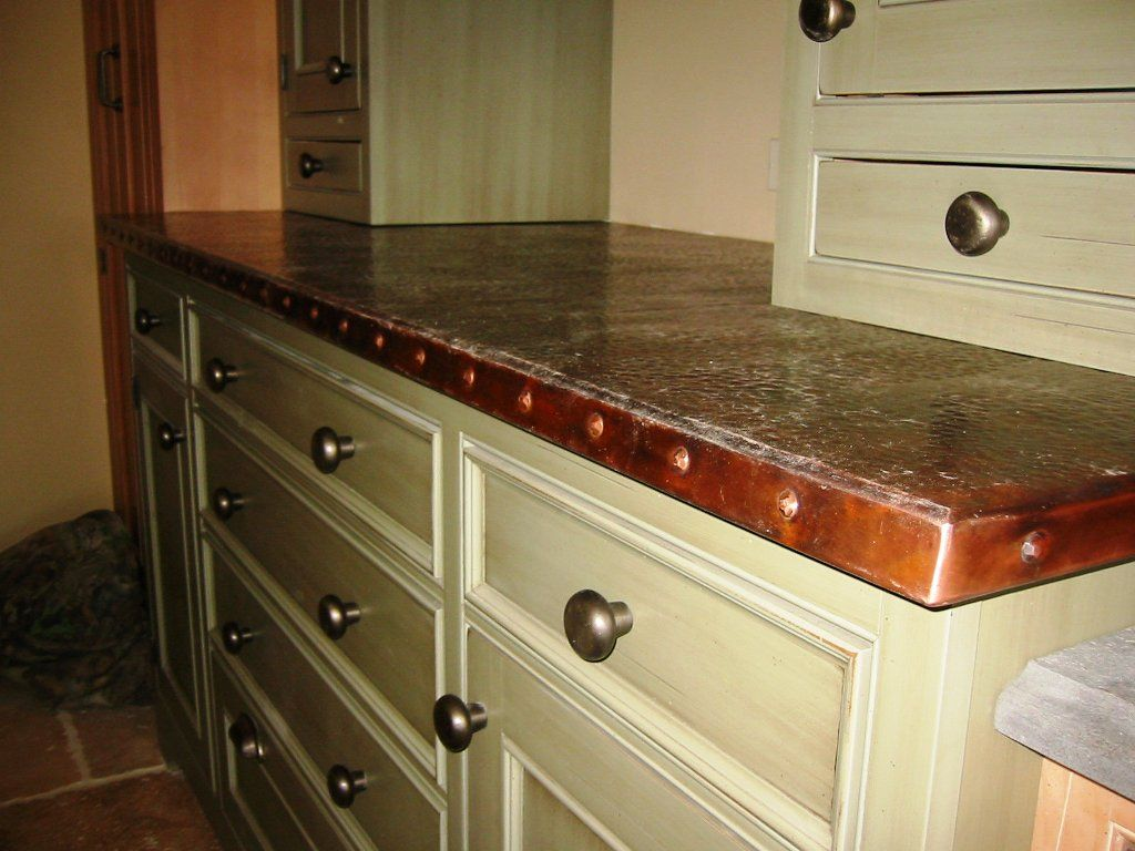 Captivating Sheet Metal · Copper Countertops Design