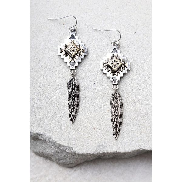 Symbolism Silver Earrings 14 Liked On Polyvore Featuring Jewelry