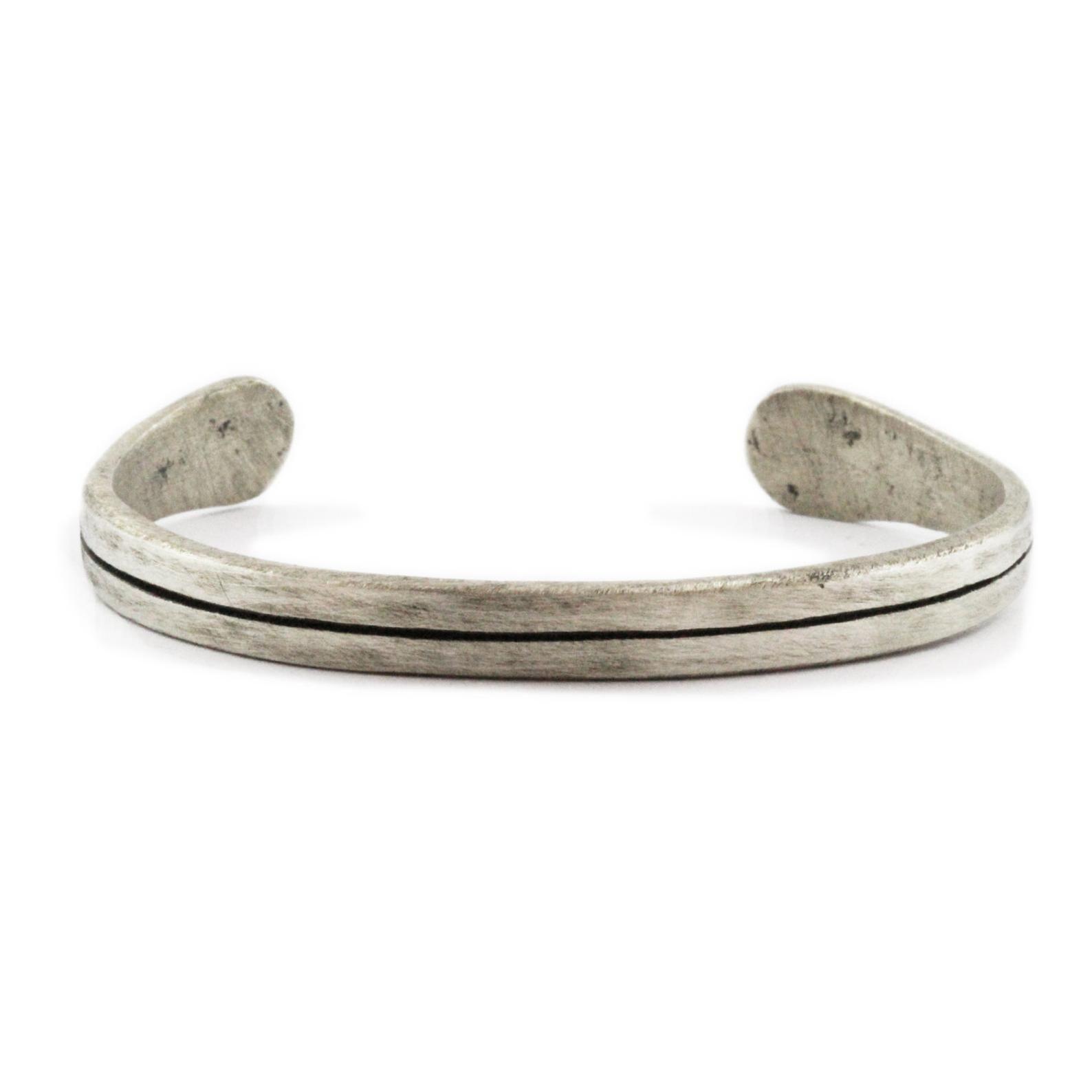 Pre Order Silver Mens Bracelet Oxidized Bangle Line Cuff Unisex In 2020 Mens Bracelet Silver Mens Engraved Bracelets Mens Jewelry