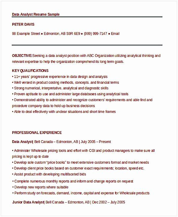 25 Data Analyst Resume Entry Level In 2020