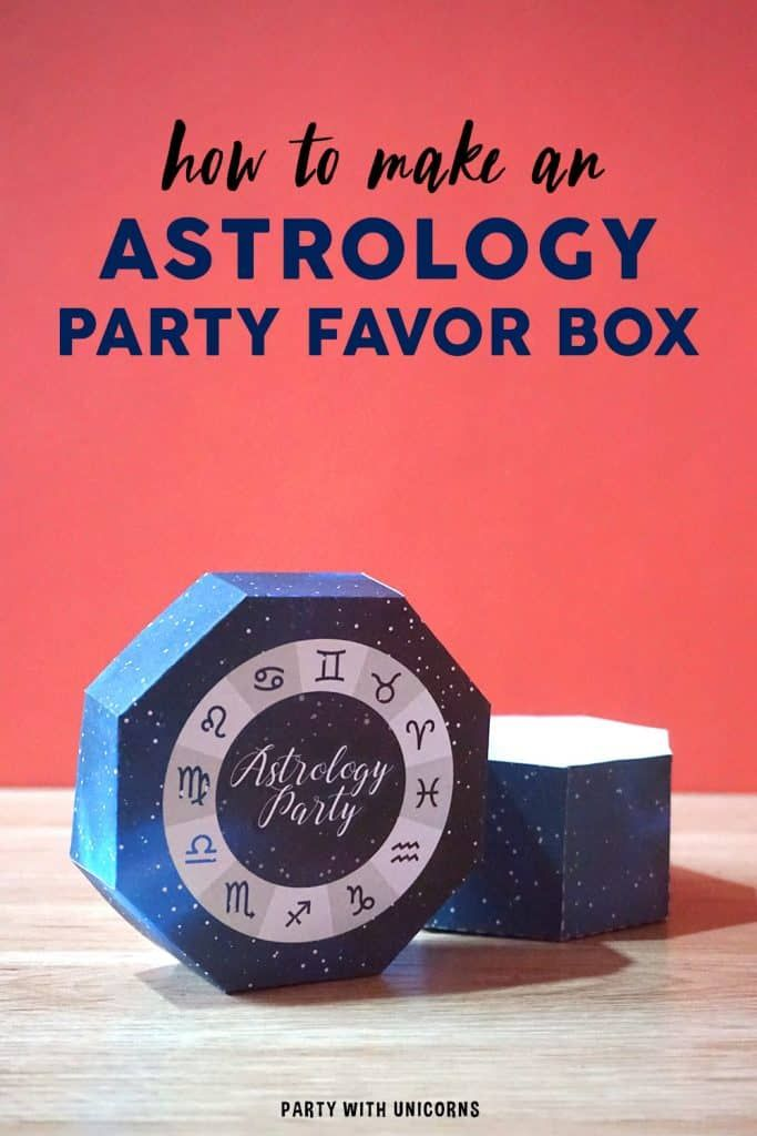 Photo of DIY Astrology Party Favor Box