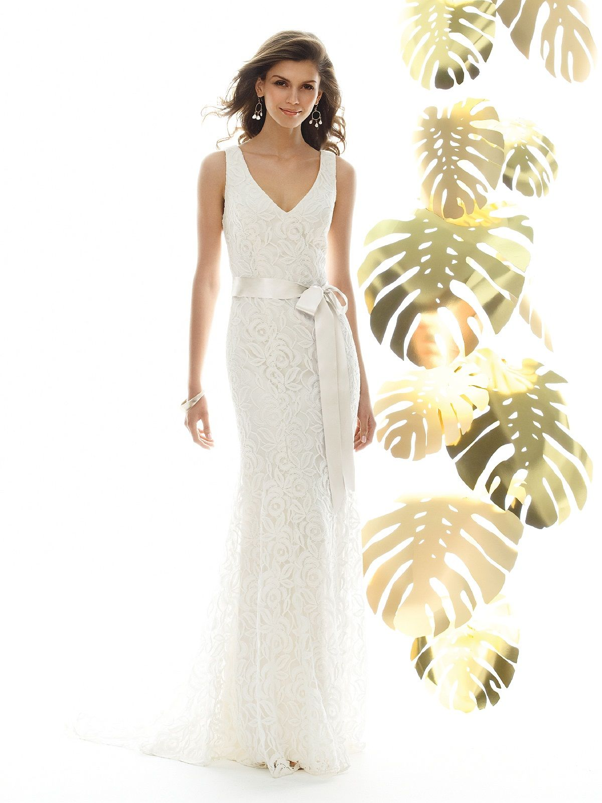 The dessy group wedding ideas pinterest wedding dress lace spring 2011 dessy bridal gown style 1018 from the sandals collection full length v neck lace beach wedding dress has sweep train and matching ribbon belt ombrellifo Gallery